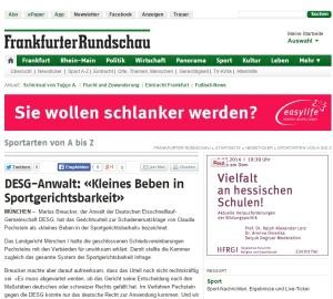 DESG Anwalt Kleines Beben in Sportgerichtsbarkeit Frankfurter Rundschau