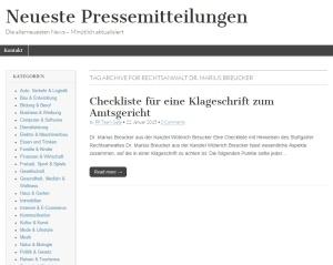 Checkliste für eine Klageschrift zum Amtsgericht - Neueste Pressemitteilungen