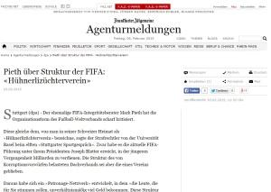 Pieth über Struktur der FIFA Hühnerlizüchterverein